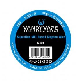 VandyVape Superfine MTL Ni80 FusedClaptonWire