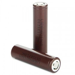 LG HG2 Brown 18650 3000mAh 3.7V 20A polo piatto