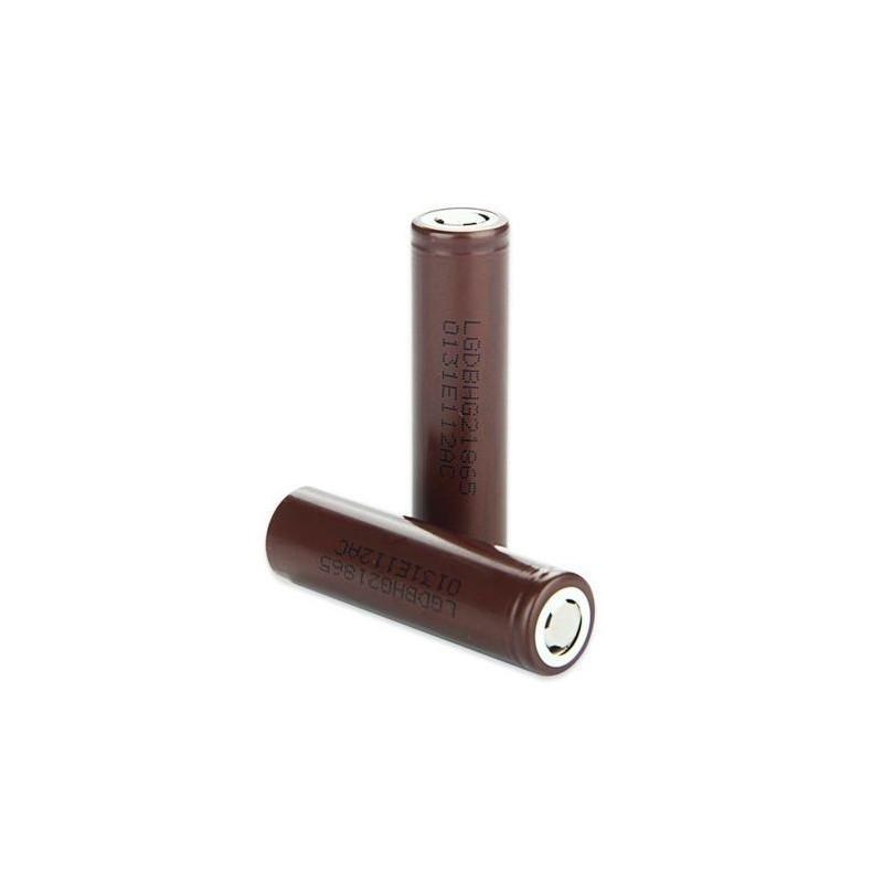 LG HG2 Brown 18650 3000mAh 3.7V 20A polo piatto