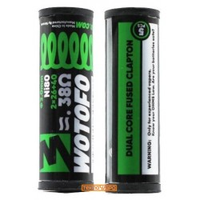 Ni80 Dual Core Fused Clapton 2x26+40G / 0.38ohm (5pcs) - Wotofo