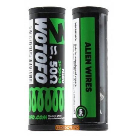 Ni80 Alien Wires 3x30+38 / 0.50ohm (5pcs) - Wotofo