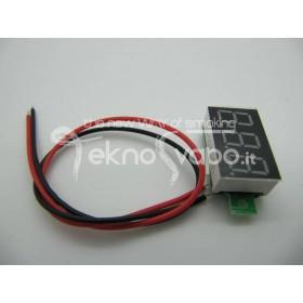 Voltage LED displays RED