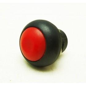 Tasto 12mm con PIN NERO/ROSSO