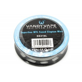 VandyVape Superfine MTL ss316L FusedClaptonWire